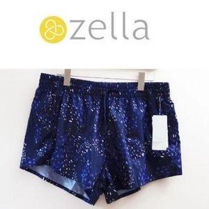 NWT, Zella Purple Pattern Sports Short L